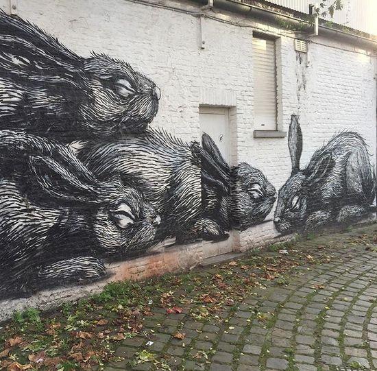 Streetart in Belgium