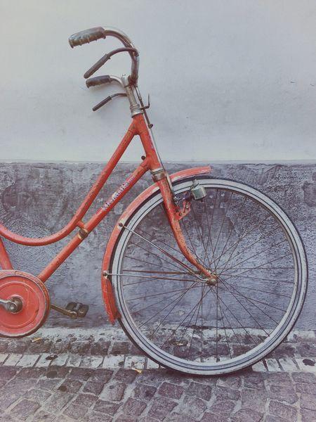 Bike Vintage Morris Red Old Old Bike Naples