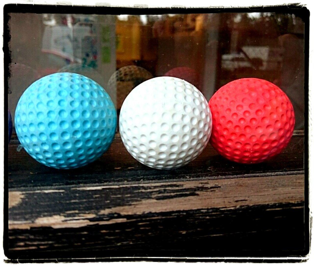 Golf Golfball Goofballs Minigolf Minigolfcourse Balls Colours Redwhiteandblue Dimples