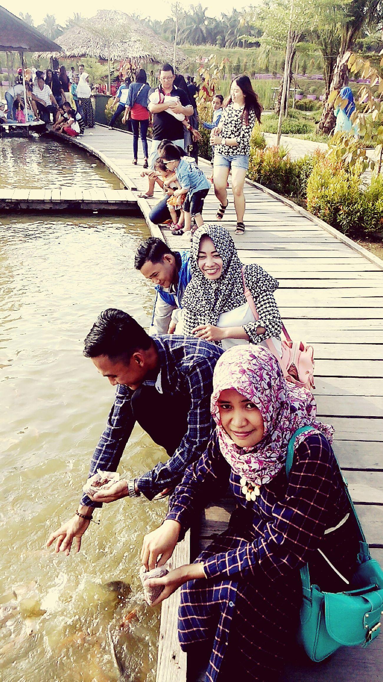 Saat libur lebaran di Taman Jambi Paradise Tamanair