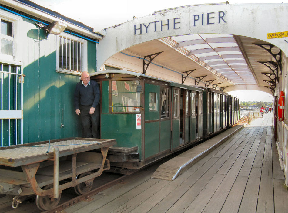 Architecture Built Structure Hythe Pier Incidental People Railroad Track Train - Vehicle Transportation