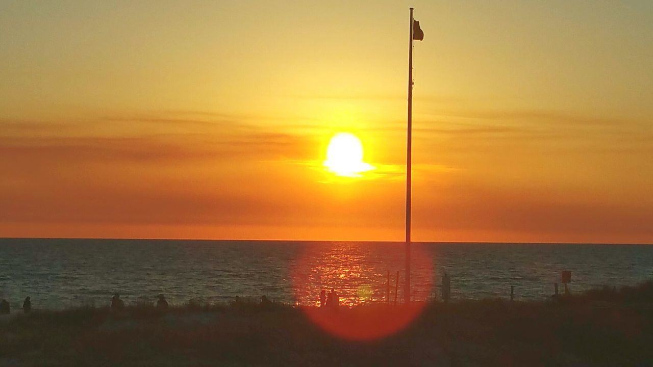 Sunset Horizon Over Water Orange Color Beach Tranquil Scene Beauty In Nature BEACH!  Enjoy The New Normal Capture The Moment Faces Of EyeEm My Year My View Happiness