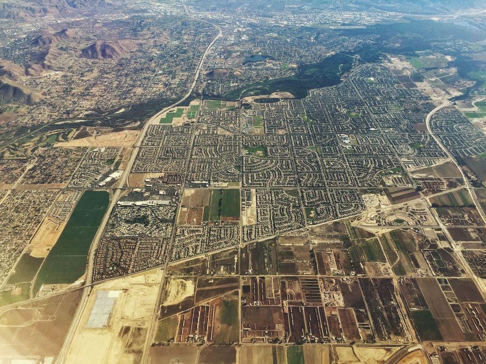 Ontario, California California Aerial Shot City Urban Geometry