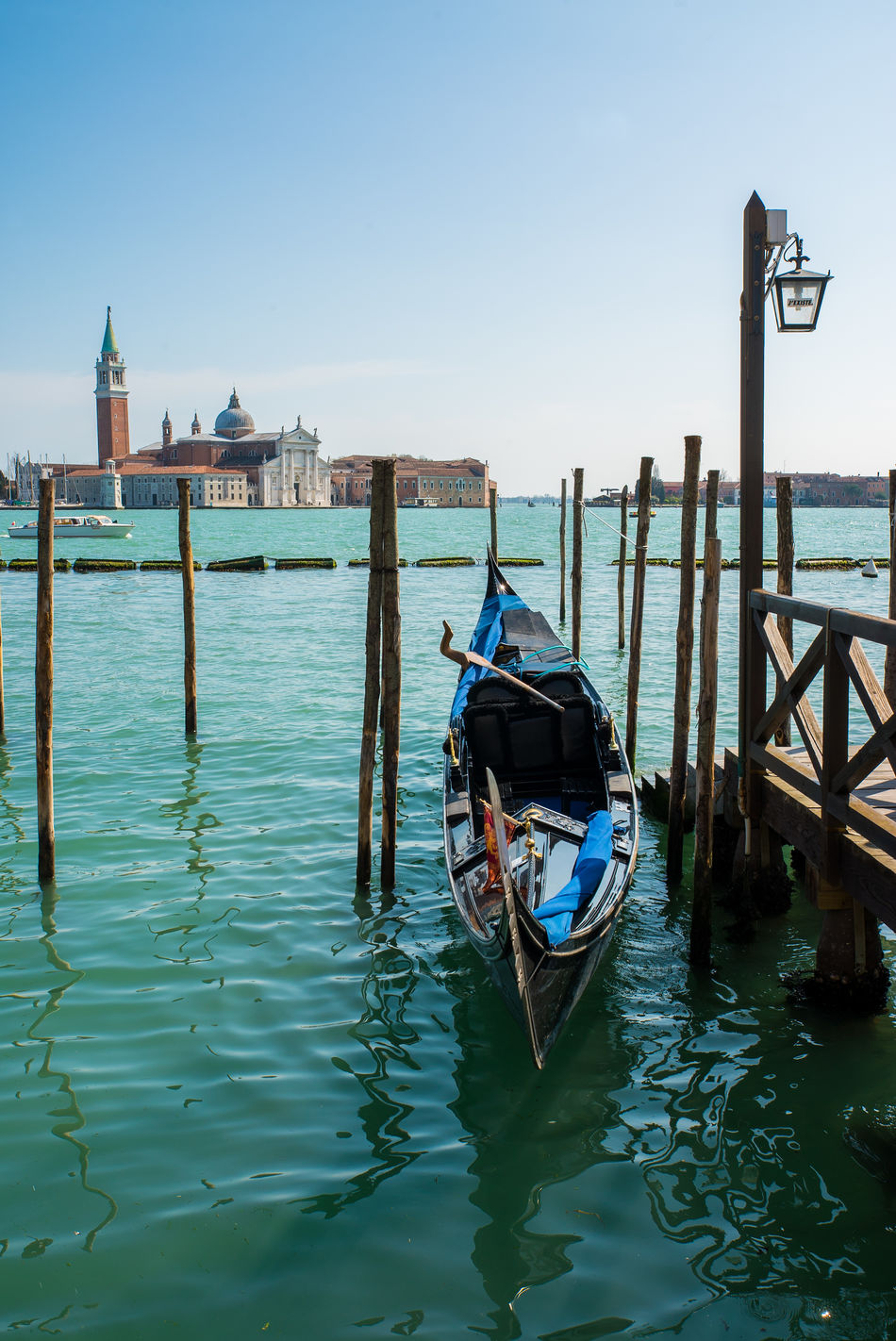 Boat Canal Canals Church City Color Cultures Europe Gondola Gondola - Traditional Boat Italian Lagoon Lamp Love Nautical Vessel Romance San Marco Sky Tipical Traditional Transportation Travel Travel Destinations Water Ways