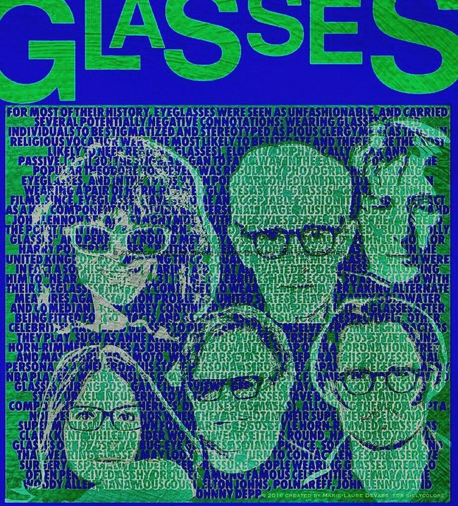 Celebrities wearing glasses Digital Art Celebrity Digital Painting Illustrationart Sillycolors Silly Colors Polnareff Elton Johns Glasses Elton John Mouskouri John Lennon Johnlennon Johnnydepp Johnny Depp Lunettes Glasses Typography Typographie