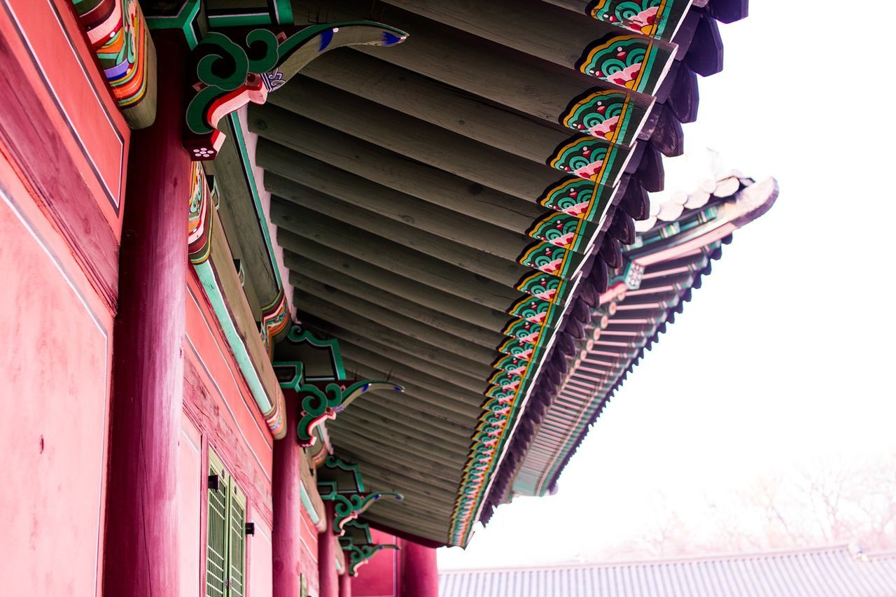 Cultures Architecture Built Structure No People Outdoors Clear Sky Korean Traditional Architecture Seoul Seoul Trip Palace Low Angle View Day Palace Of Culture ASIA Asian Culture First Eyeem Photo