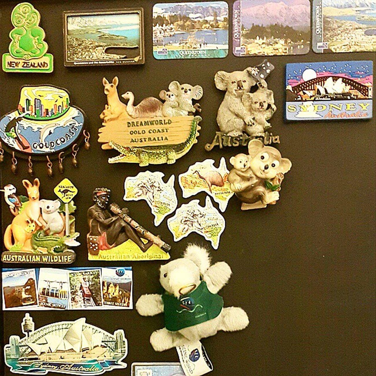 Magnet collections of Australia & New Zealand PrivateCollections PersonalCollections Collections Travelmania Travelers GoldCoast sydney Australia Queenstown NewZealand