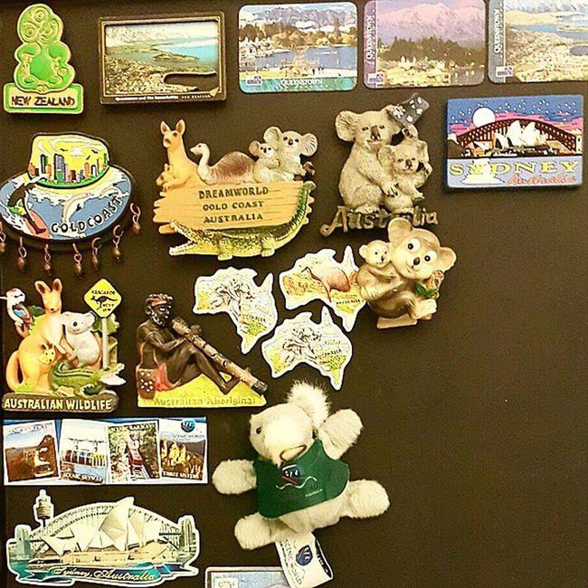 Magnet collections of Australia & New Zealand PrivateCollections PersonalCollections Collections Travelmania Travelers GoldCoast sydney Australia Queenstown NewZealand