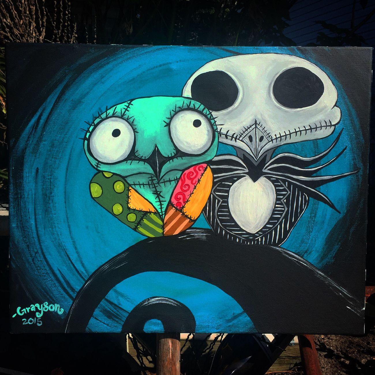 Doghairstudio Jack Skellington Owl Art Handmade Art Is Life