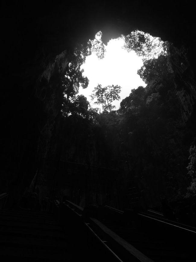 Batu Caves Batu Caves -Malaysia Black And White Cave Dark Nature Rock Tranquility