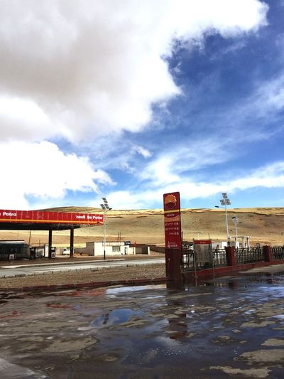Tibet Way To Go Home On My Way After The Rain Gas Station