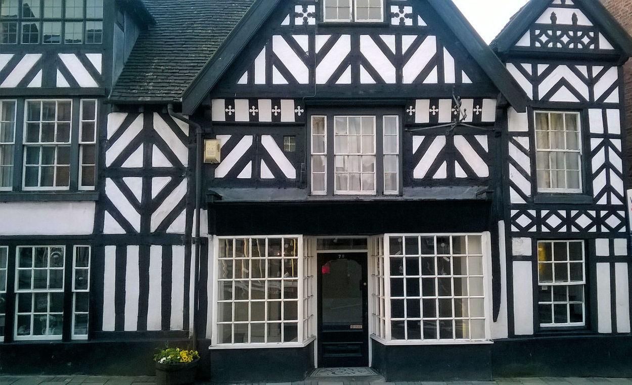 Architectural Feature Architecture Black And White Black And White House Building Cheadle Elizabethan Architecture Elizabethan House England English Market Town Market Town Medieval Architecture Old Building  Timber Frame Timber Framed House Tudor House