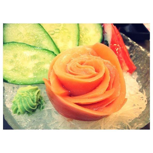 Before musical Salmon Dinner Food Fresh BBKK Bangkok Thailand