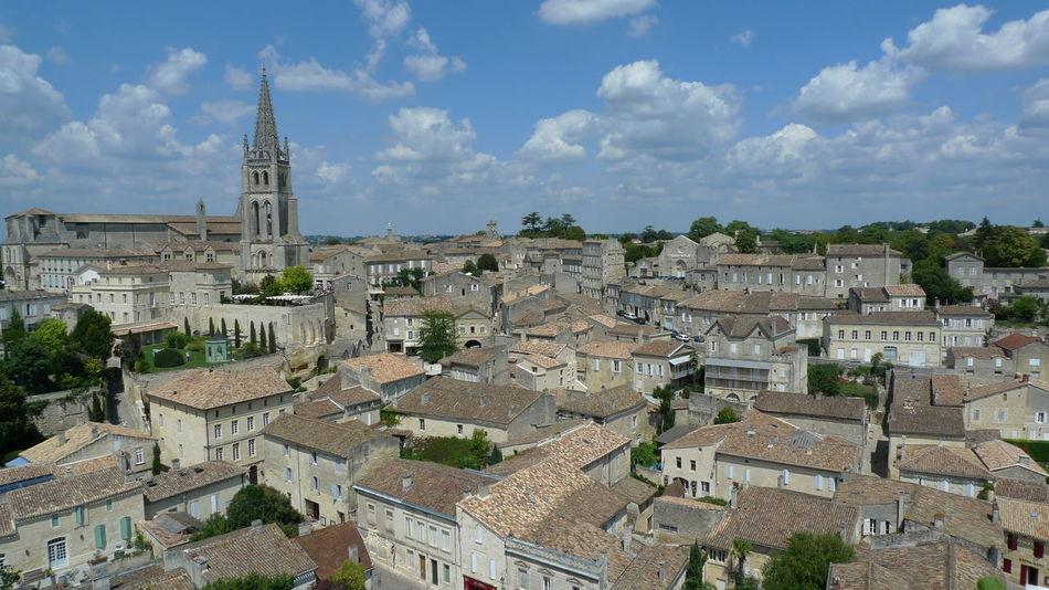 Saint Emilion cityscape Bordeaux Buildings And Sky City Cityscapes Clouds And City Historic Town Old Buildings Old Town Saint Emilion View Of City