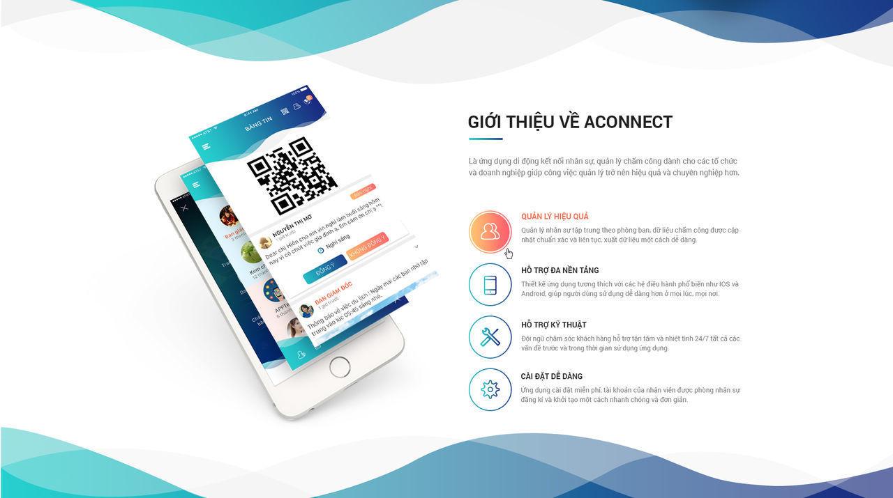 Ứng dụng mobile kết nối doanh nghiệp Aconnect giúp doanh nghiệp kết nối và quản lý các phòng ban và nhân sự hiệu quả. http://apecsoft.asia/thiet-ke-ung-dung-di-dong-aconnect/ Thiết Kế ứng Dụng Di động