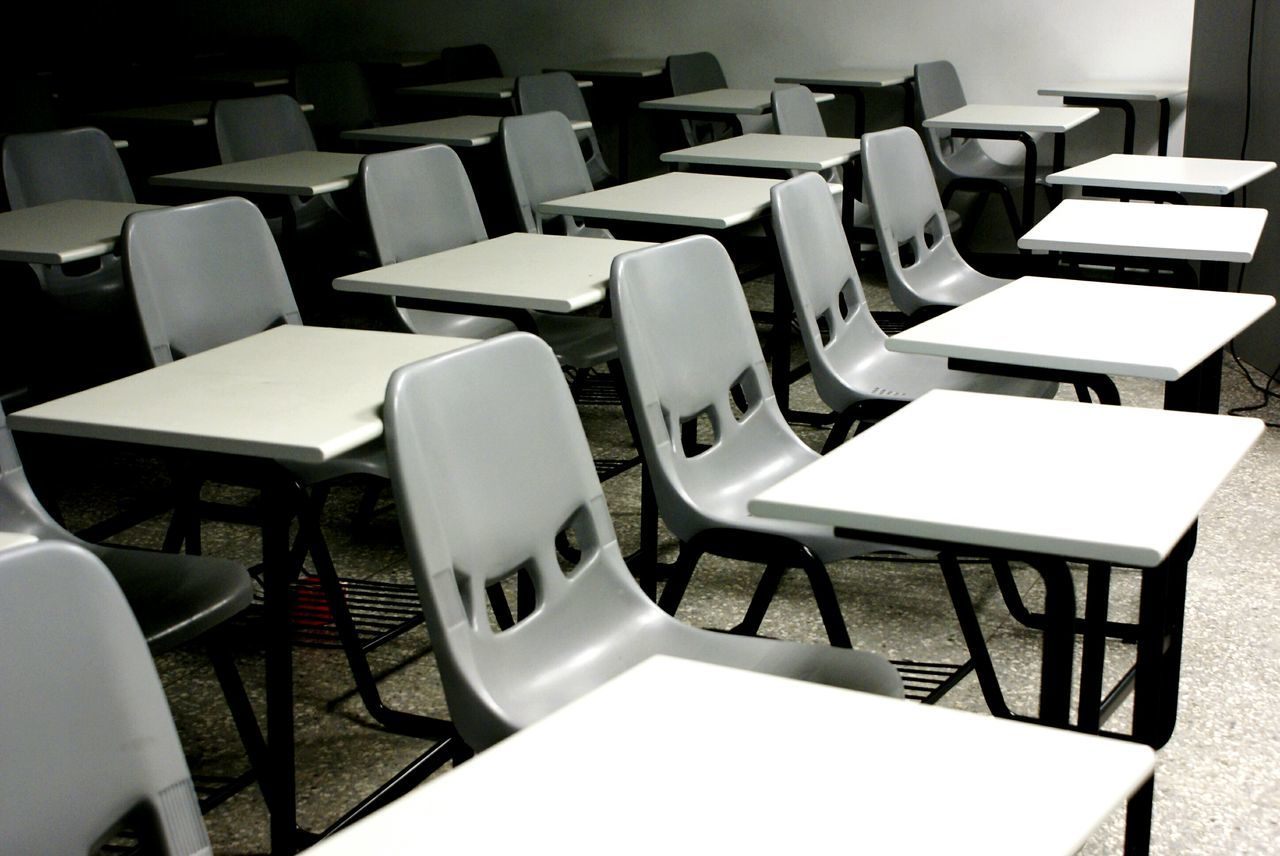 Empty Seats In Classroom