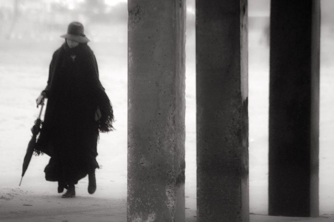 Woman walking under the pier. Black & White Blackandwhitephotography Blackandwhite Model Modeling Beach Beachphotography Coney Island / Brooklyn NY Coney Island Brooklyn