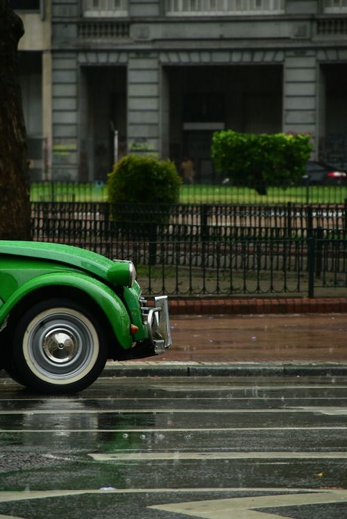 Green Color Land Vehicle No People Outdoors Tire Day City Cityscape Nikon City Life Buenos Aires Architecture Citroen Citroen 2cv Citroen2CV Citroen Retro Green Car City Street Travel Destinations Business Finance And Industry