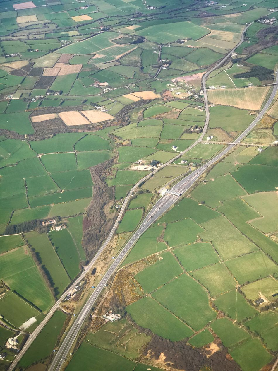 Agriculture Aerial View Farm Rural Scene Field Landscape Patchwork Landscape Scenics Idyllic Beauty In Nature Nature Tranquility Motorway M8 County Cork Münster Ireland Nra Growth No People Outdoors Tree Day