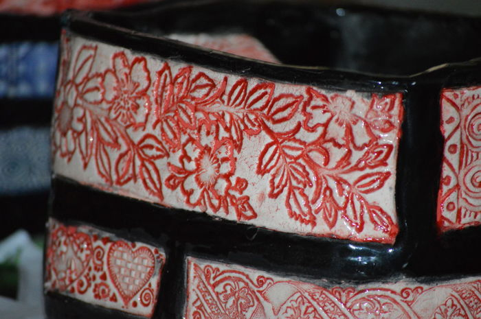 Pottery Art Creativity Heart Love Black White Red Handemade Ceramics The Purist (no Edit, No Filter) Pattern, Texture, Shape And Form Pattern Pattern Pieces