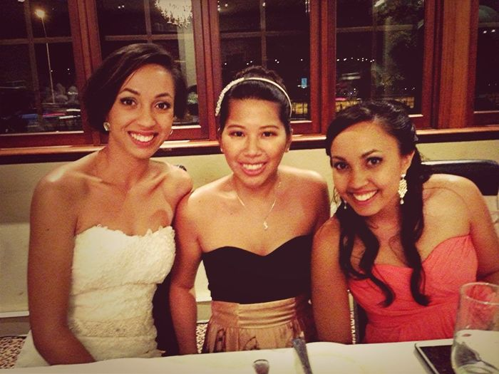 Wedding Reception - With The Bride And Maid Of Honour