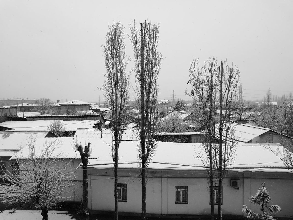 Nature Day Snowing Tashkent ♥ Sky Outdoors No People Architecture