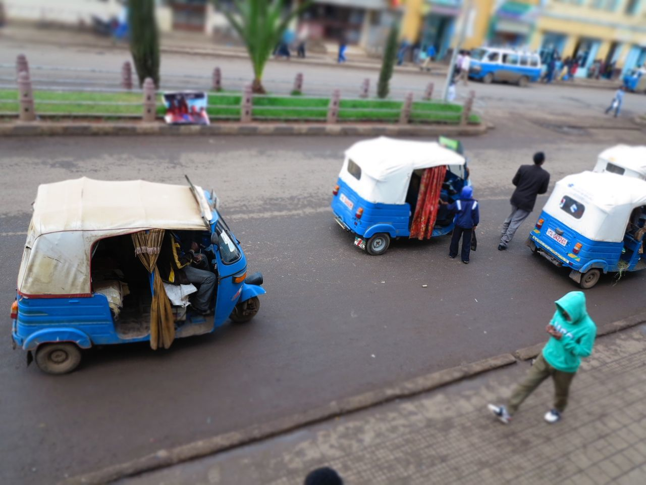 Bajaj Day Motor Rikshaw Outdoors People Real People Rikshaw Taxi Tiltshift Tricycle