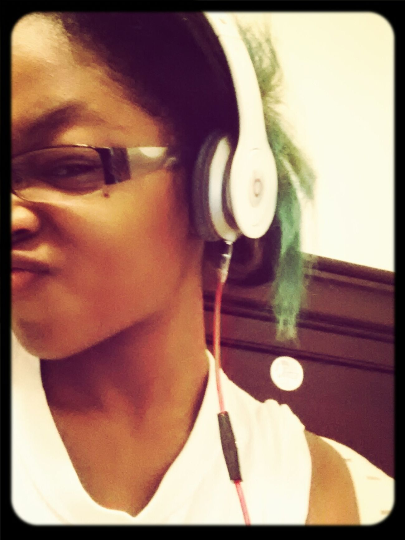 Because music brings out so much emotion <3 #DreBeats Dyed Hair Drebeats Beautiful Music Follow Me Cute Funny Crazy Blue Hair Likeforlike