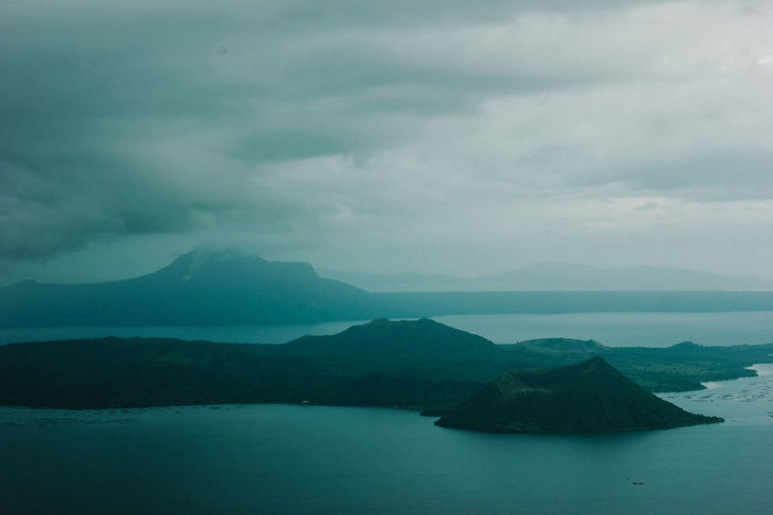 Taal Volcano EyeEmNewHere Love Beauty In Nature Cloud - Sky Day Iceberg Landscape Mountain Mountain Range Nature No People Outdoors Scenics Sea Sky Tranquil Scene Tranquility Volcano Water Waterfront