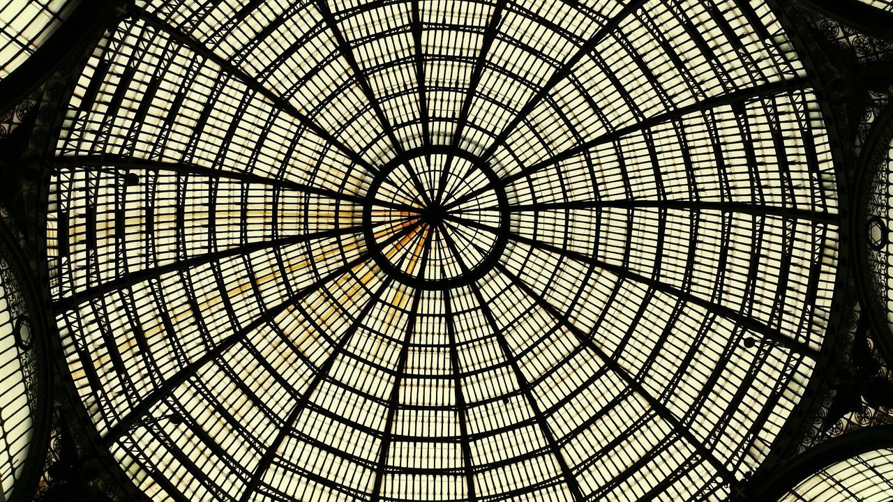 Architecture Geometry Gallery Historic City Napoli Italy History