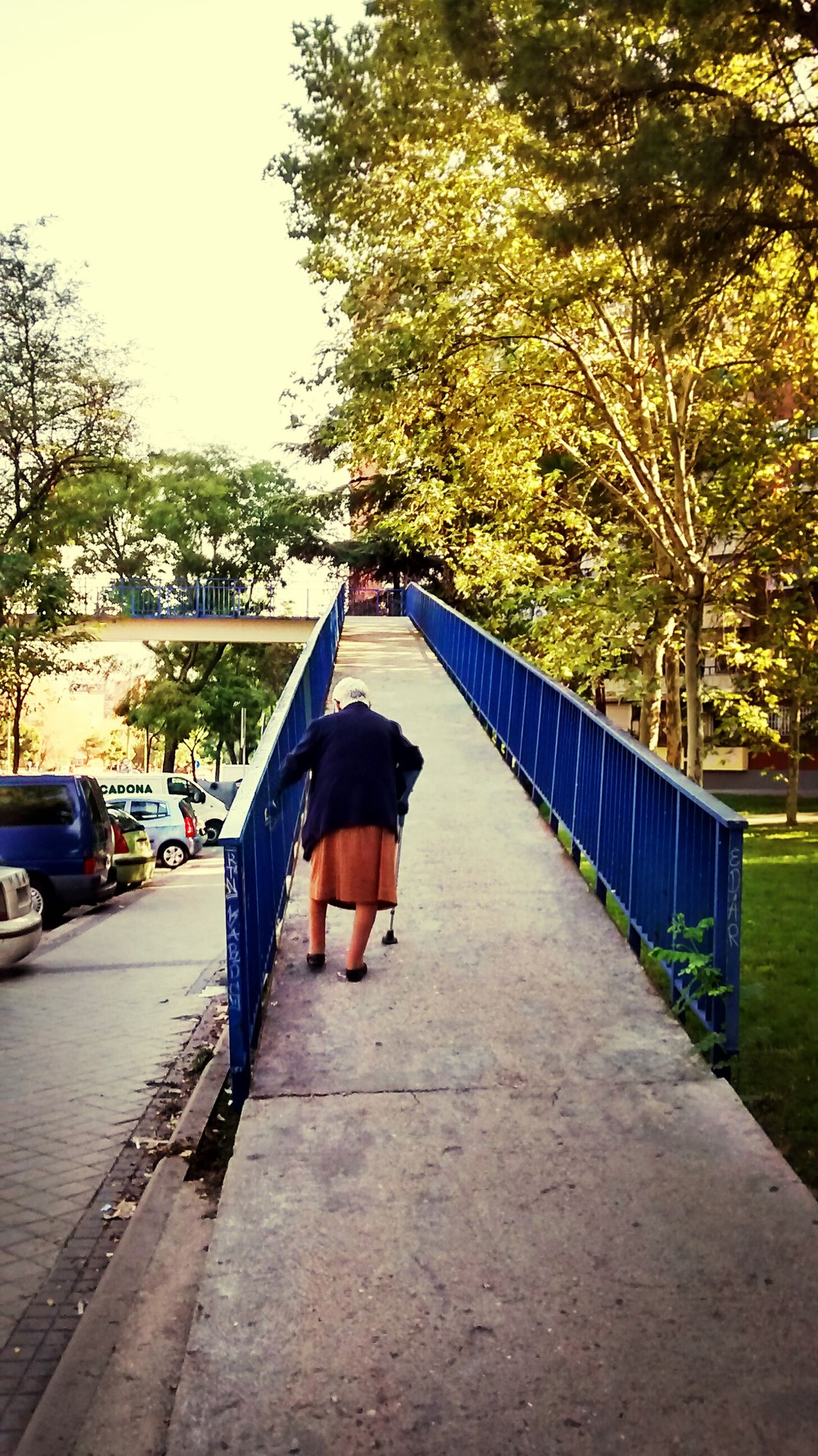 Dem Fontana old woman puente Eliptica
