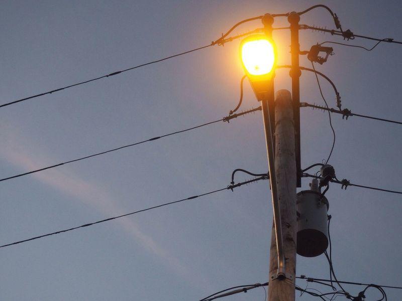 Street Light Sky Olimpus Photography Illuminated