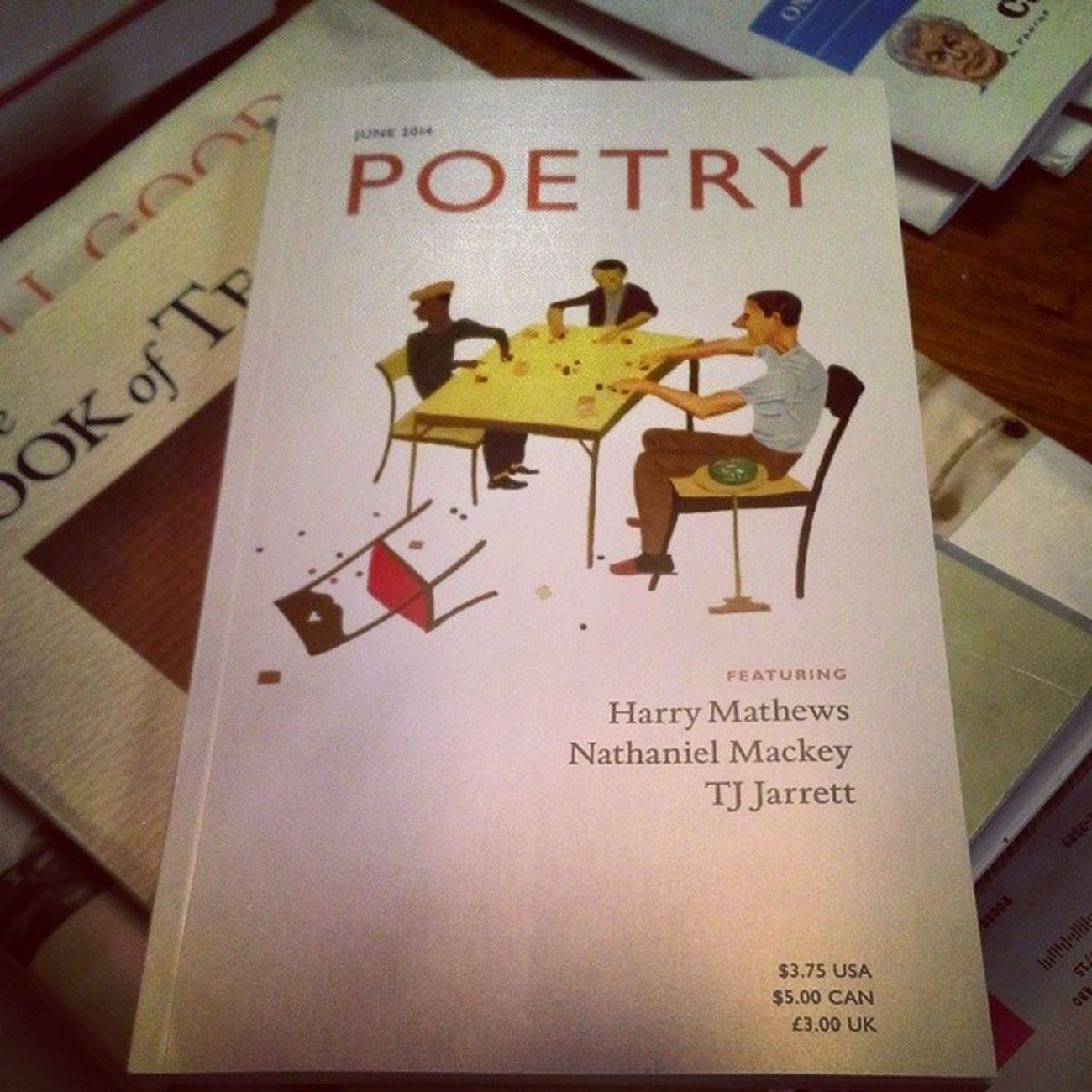 Any mail delivery containing a new edition of Poetry is a good delivery indeed. :) Poetry_magazine