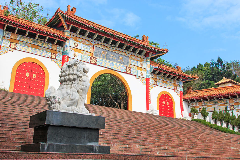 Fo Guang Shan Hsi Lai Temple Architecture Art ASIA Asian  Asian Culture Buddha Buddha Statue Building Exterior Built Structure Carving - Craft Product Craft Creativity Fo Guang Shan History Kaohsiung Low Angle View Ornate Religion Sculpture Sky Statue Summer Taiwan Tradition Travel Destinations
