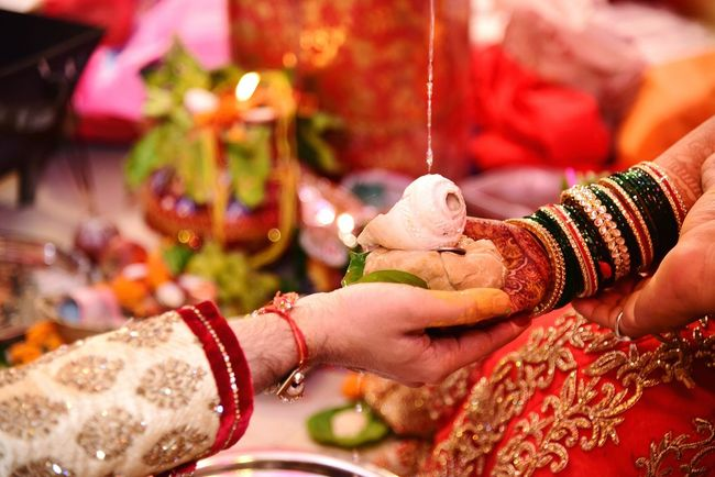 Love ♥ Indian Culture  Wedding Bonded For Life Tradition Emotions For Life♡ Colorful Pact Beautiful Husband And Wife Togetherness Relationship New Journey Begins Love In The Air