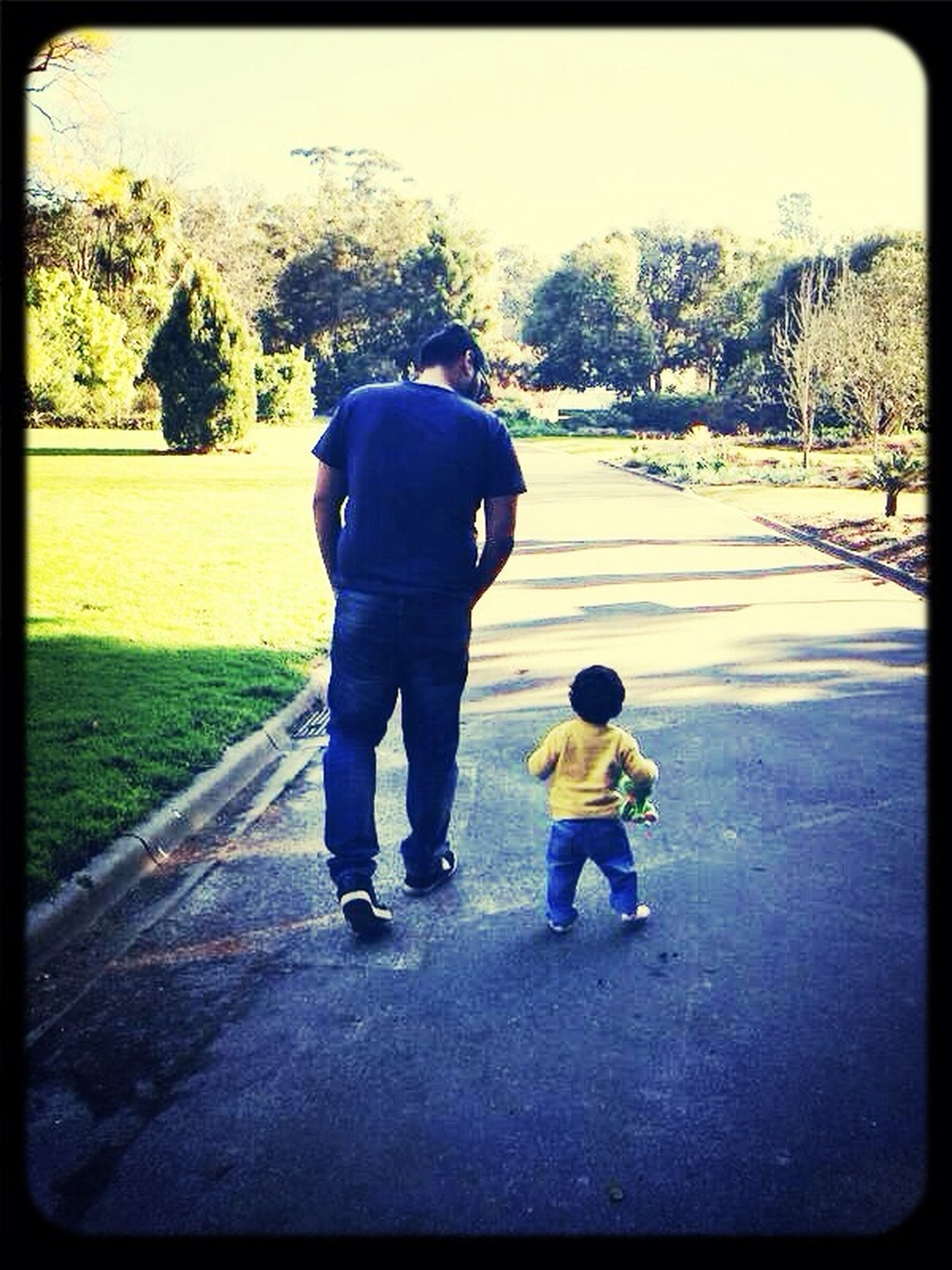 Father & Son First Walk Enjoying Life Melbourne Love