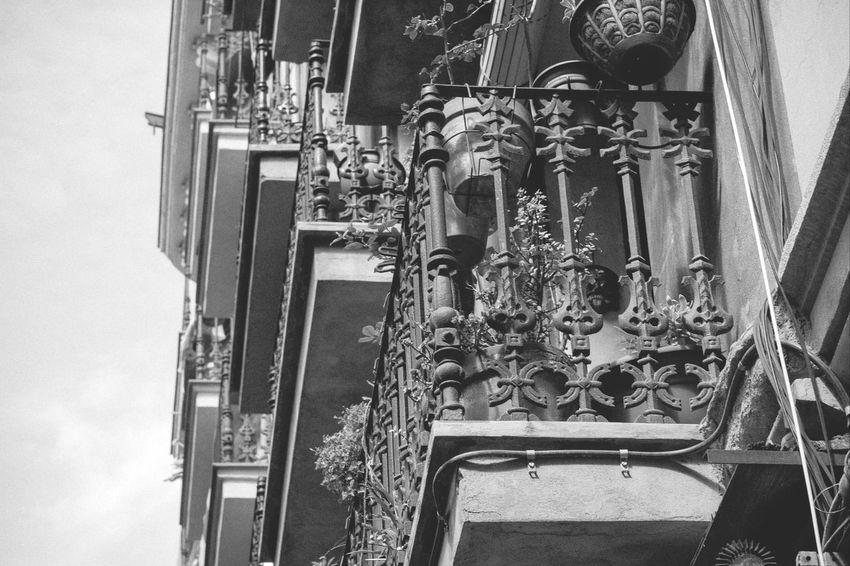 Steps of Balconies Black & White Exterior
