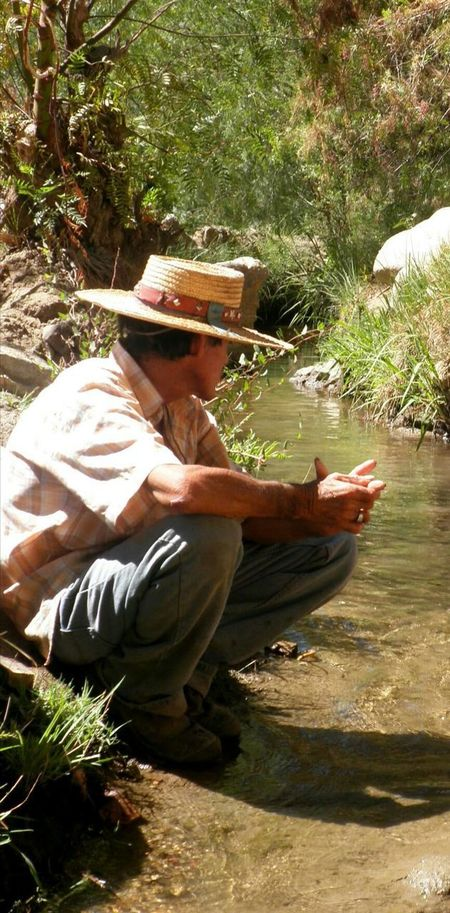 One Person Outdoors Sitting Real People Nature Full Length Goatherd Chasingdreams Secano Chile♥ Nature Landscape Arid Climate Rural Scene Desert Landscape Irrigation Channel Scarcity Cordillera De Los Andes