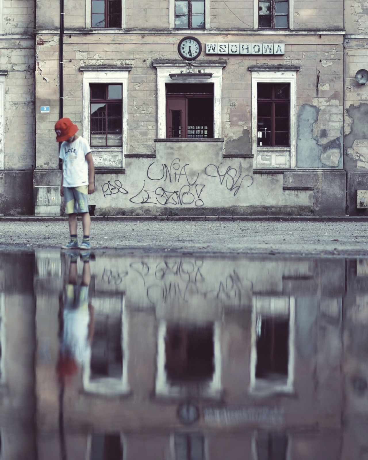 Reflection Puddleography Puddle Reflections Puddle City Urbanphotography VSCO EyeEm Best Shots Nikonphotography EyeEm Best Edits EyeEmBestPics Minimalpeople Minimalism Poland ExploreEverything Explore Exploring Urbexexplorer Urbex Wschowa The Great Outdoors - 2017 EyeEm Awards