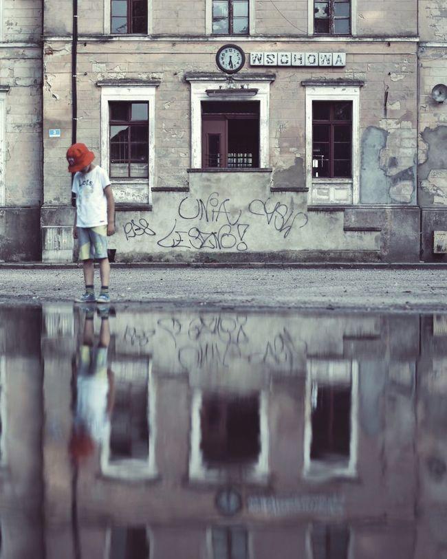 Reflection Puddleography Puddle Reflections Puddle City Urbanphotography VSCO EyeEm Best Shots Nikonphotography EyeEm Best Edits EyeEmBestPics Minimalpeople Minimalism Poland ExploreEverything Explore Exploring Urbexexplorer Urbex Wschowa