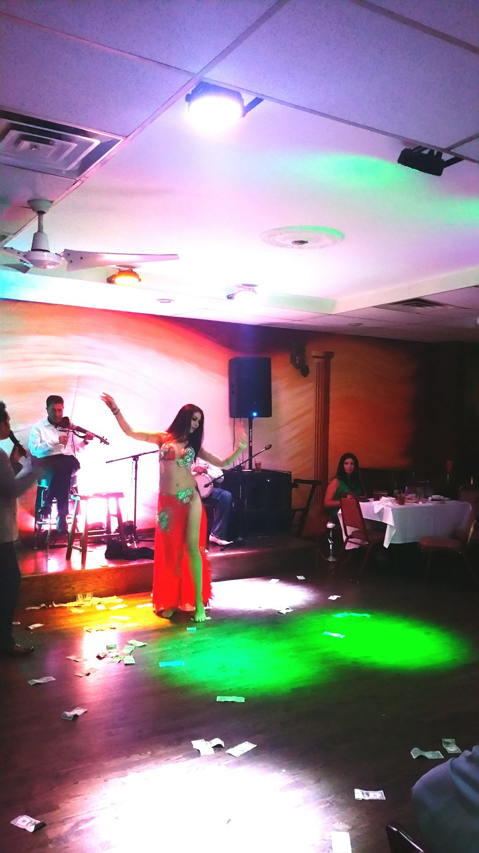 Bellydancer Having Fun Dancing Music Arabian Saturdaynight