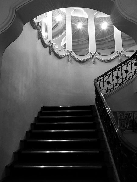 Stairs Lights Architecture_bw Architectural Detail Decoration Decor Bw_collection Black & White Blackandwhite Black And White Eye4black&white  Blackandwhite Photography IPhoneography Iphoneonly Iphonephotography Perspective Architectureporn