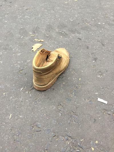Shoe on the street London Shoe Menversioncinderella Funny