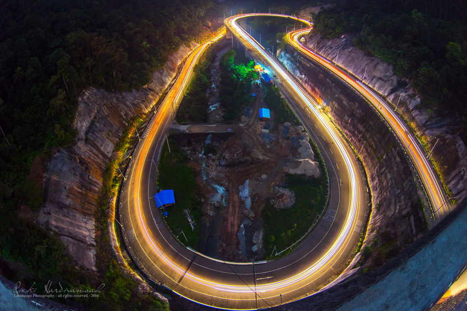 Architecture Built Structure High Angle View INDONESIA Indonesia_photography Kelok9 Light Trail Long Exposure Motion Night Outdoors Sony A7 Speed Transportation Travel Travel Destinations Westsumatera