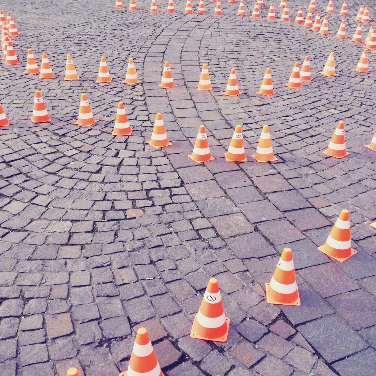Beautiful stock photos of safety, Cobblestone, Day, High Angle View, Large Group Of Objects