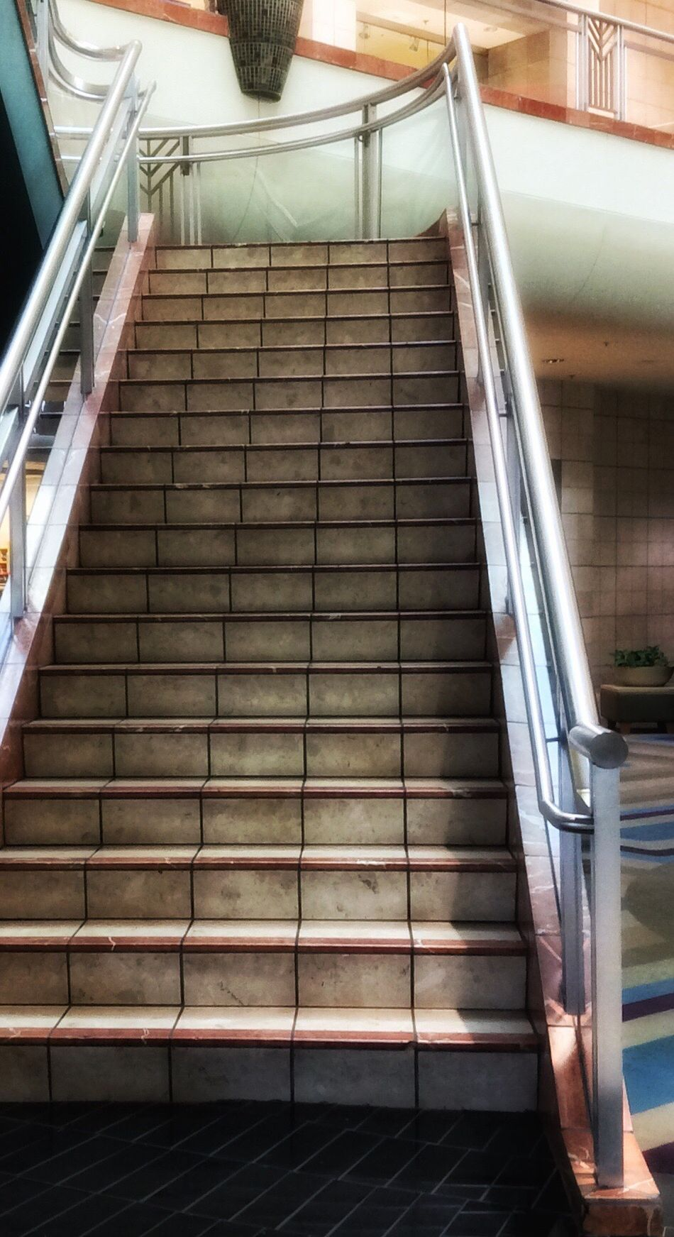 Steps And Staircases Steps Low Angle View Staircase No People Architecture Outdoors Day Nostalgic  Eye For Photography Atmosphere Metrocenter Shopping Mall Phoenix Arizona Darkness And Light Architectural Design Going Up Going Down Eye Em The Way Forward Built Structure Architectural Feature Daytime Mall