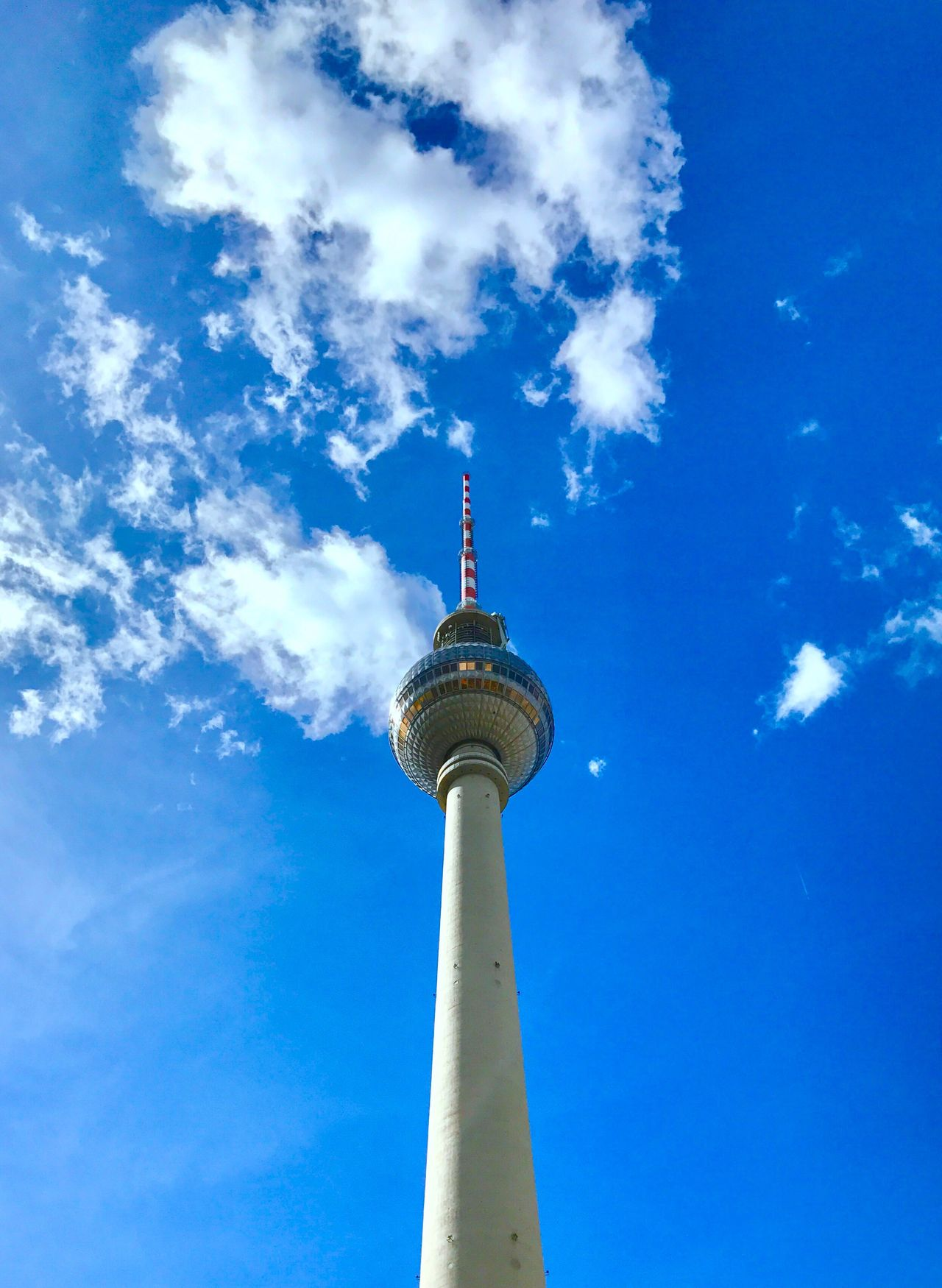 Tower Tvtower Tvtowerberlin Low Angle View Sky Blue Blue Sky Architecture Day Cloud - Sky Outdoors Urban Urbanphotography Urban Landscape Germanarchitecture