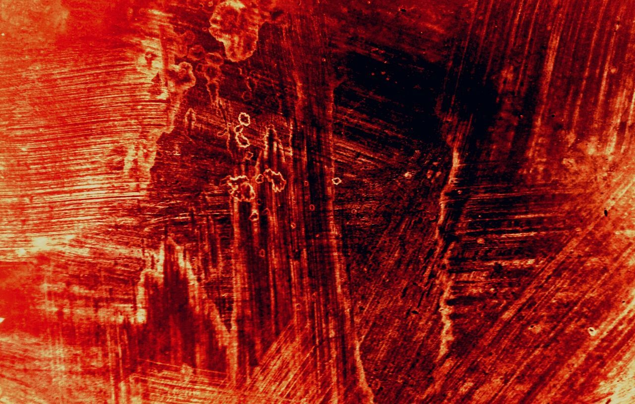 textured, backgrounds, abstract, paint, red, no people, close-up, ink, day