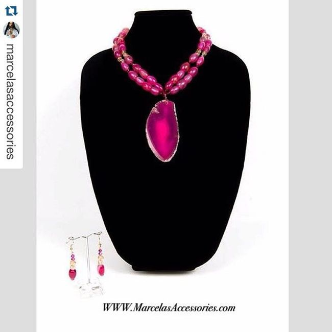 Repost from @marcelasaccessories of... ・・・ Our beautiful Grace Necklace is available now at www.marcelasaccessories.com pretty shot by @jkdimagery💝💝 Marcelasaccessories Semipreciousstones Gemstones Agate Chic Pink Necklace Availablenow Fashion Trend Jewellery Tendencias FollowUS 🙋