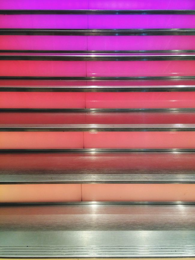 Steps Colors Gradient Neonlights Light Going Down